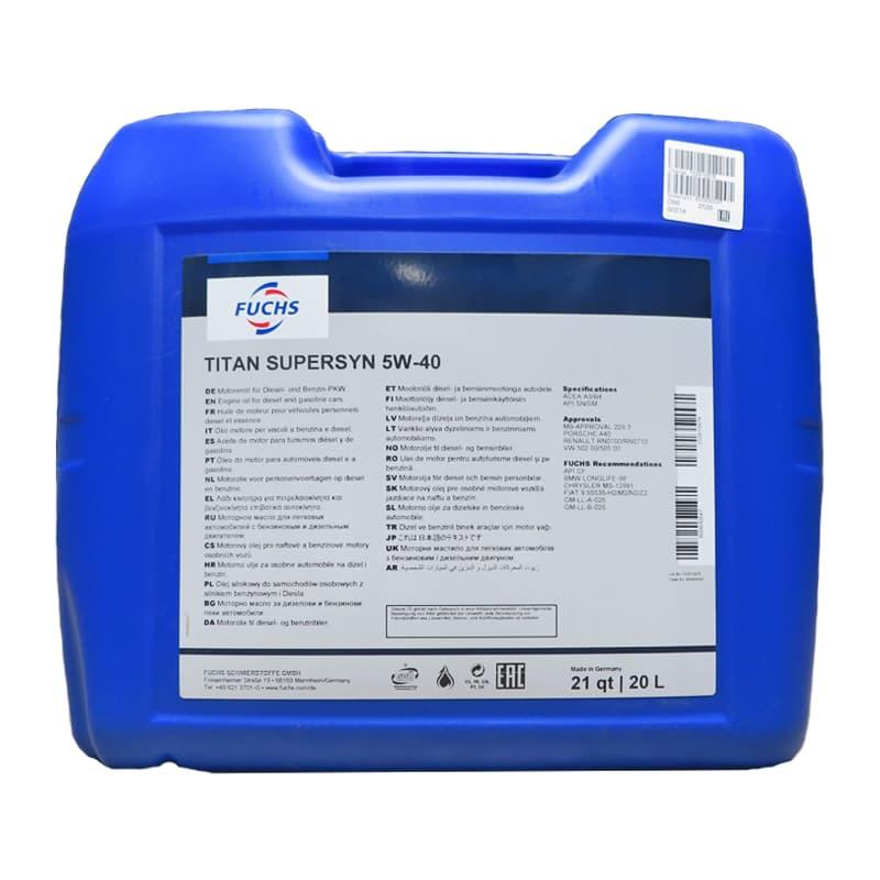 FUCHS TITAN Supersyn SAE 5W-40 - 5 Liter
