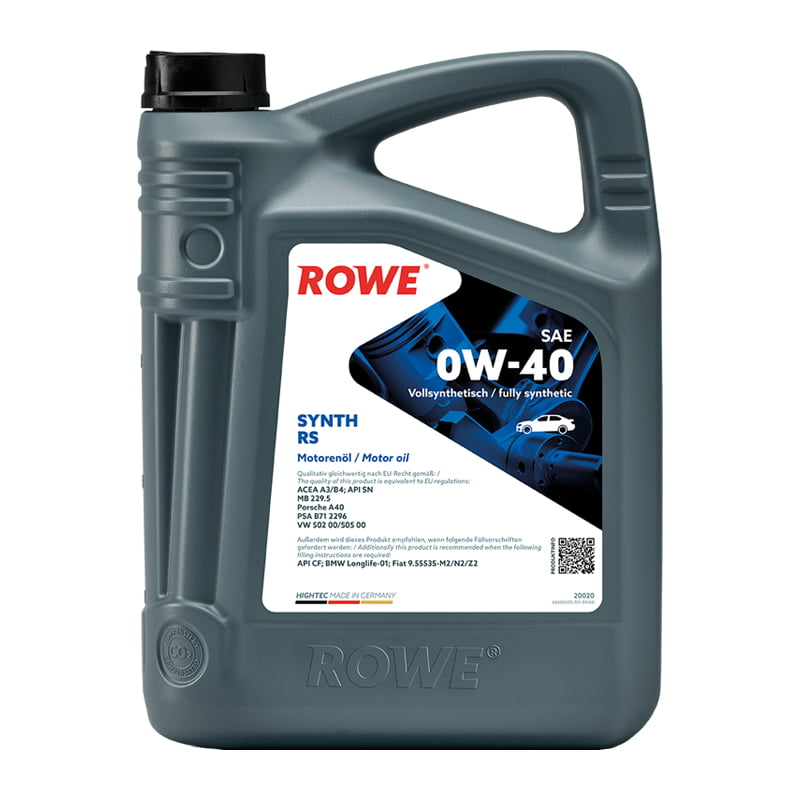 ROWE HIGHTEC SYNTH RS SAE 0W-40 - 5 Liter