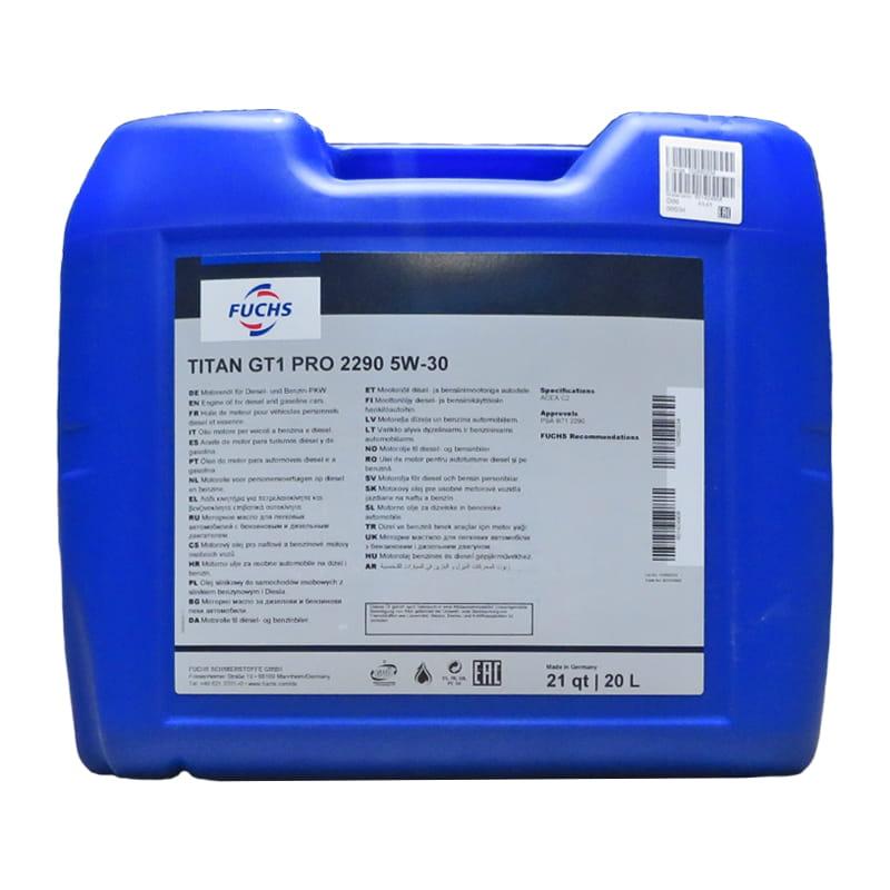 FUCHS TITAN GT1 PRO 2290 SAE 5W-30 - 20 Liter