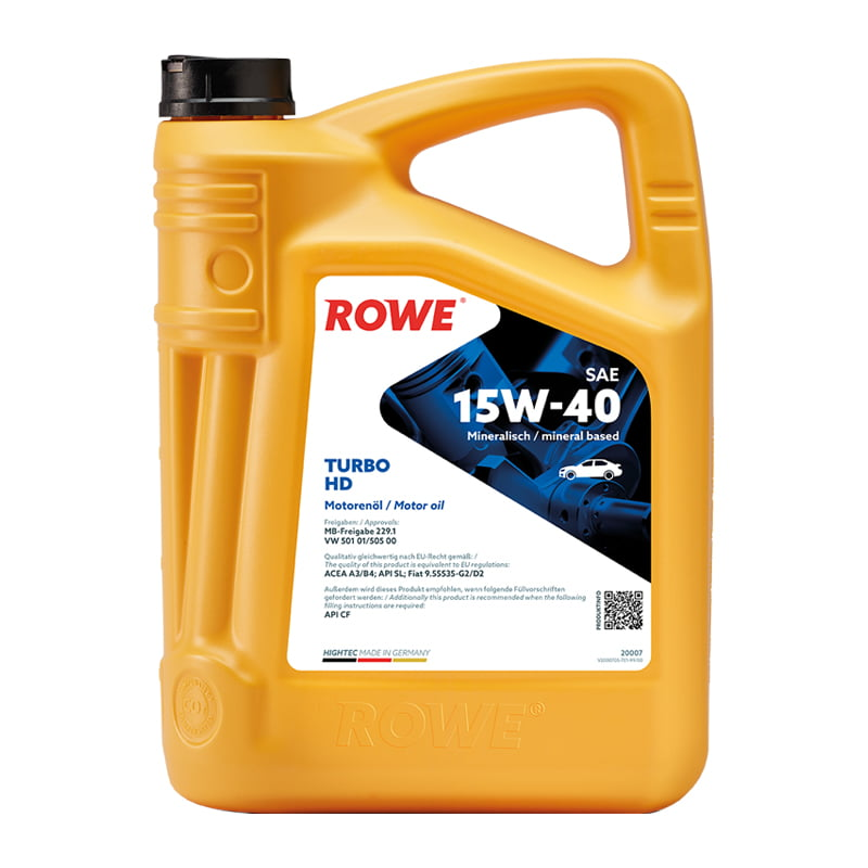ROWE HIGHTEC TURBO SAE 15W-40 - 5 Liter