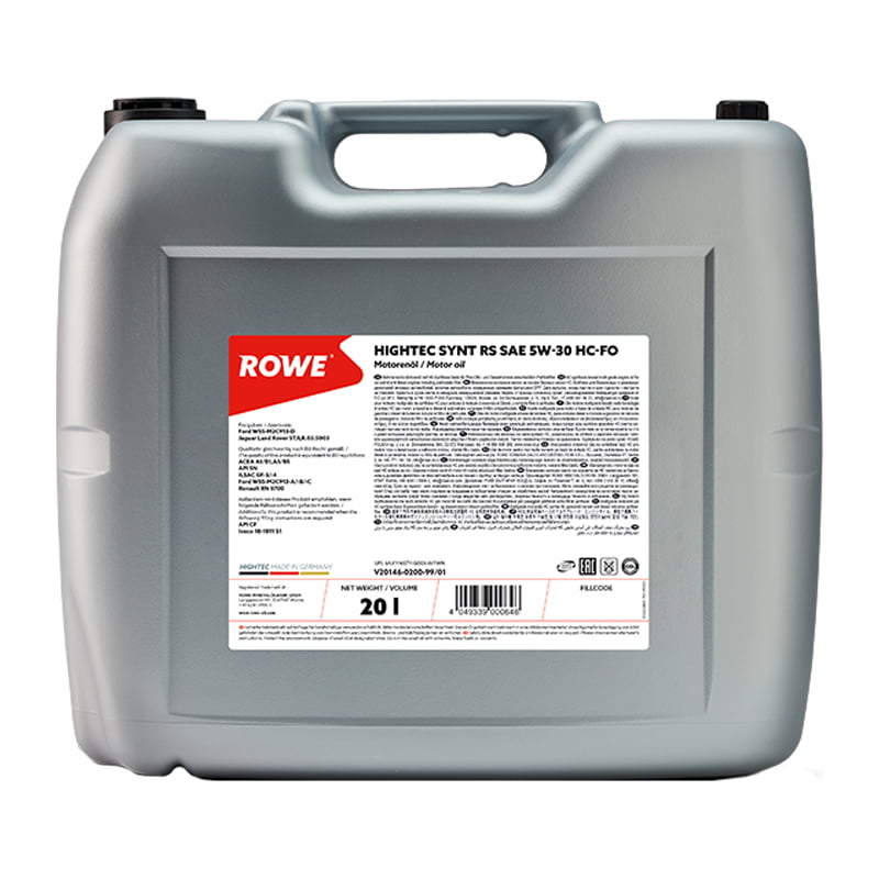 ROWE HIGHTEC SYNT RS SAE 5W-30 HC-FO - 20 Liter