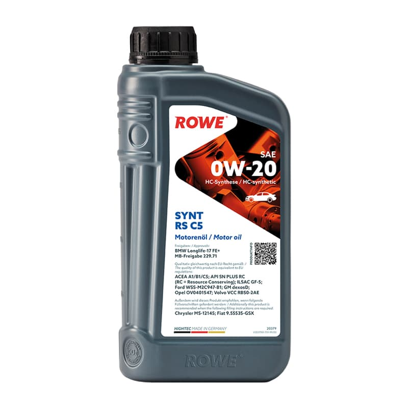 ROWE HIGHTEC SYNT RS C5 SAE 0W-20 - 1 Liter