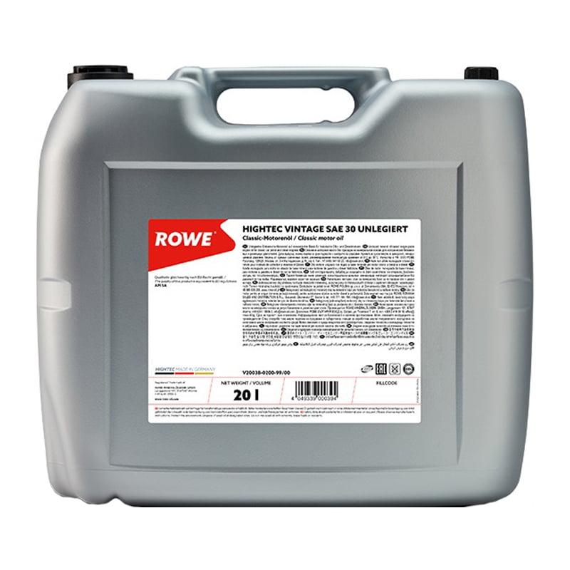 ROWE HIGHTEC VINTAGE SAE 30 UNLEGIERT - 20 Liter