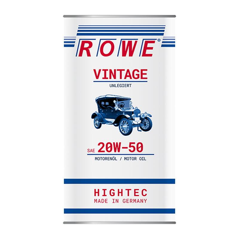 ROWE HIGHTEC VINTAGE SAE 20W-50 unlegiert - 5 Liter
