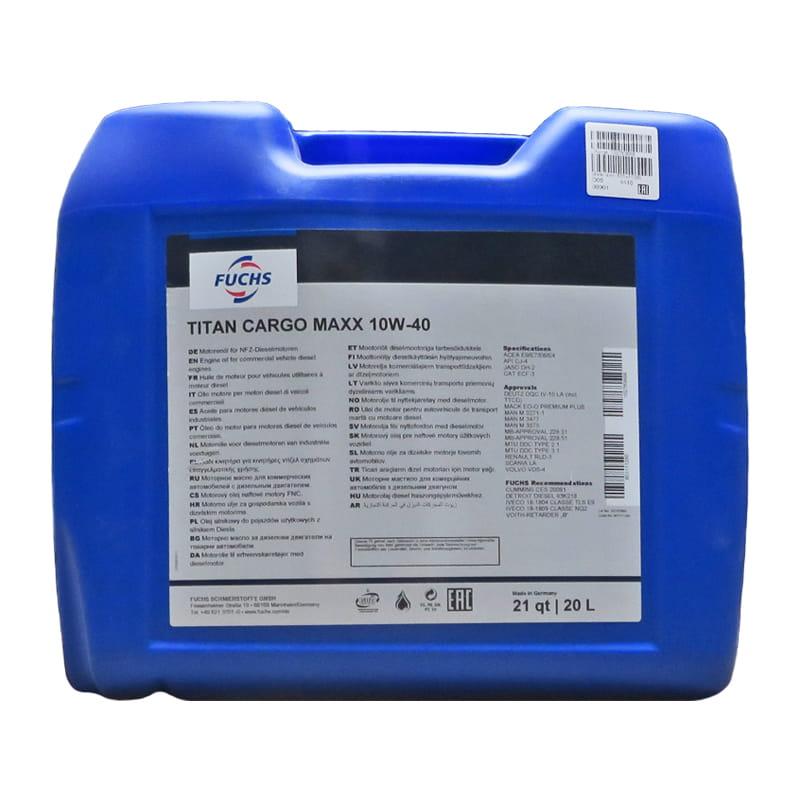 FUCHS TITAN CARGO MAXX SAE 10W-40 - 20 Liter