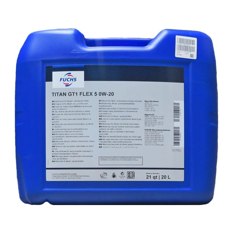 FUCHS TITAN GT1 FLEX 5 SAE 0W-20 - 20 Liter