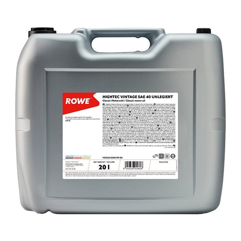 ROWE HIGHTEC VINTAGE SAE 40 UNLEGIERT - 20 Liter