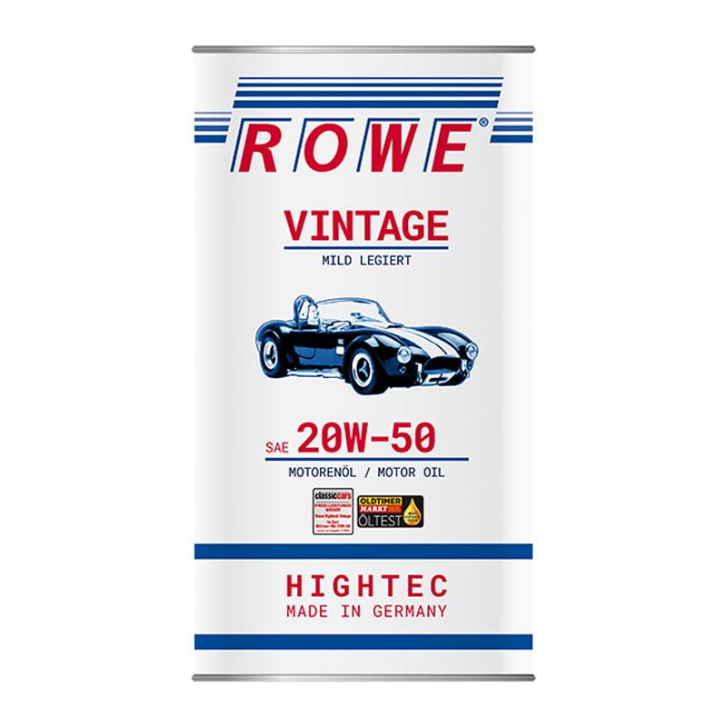 ROWE HIGHTEC VINTAGE SAE 20W-50 mild legiert - 5 Liter