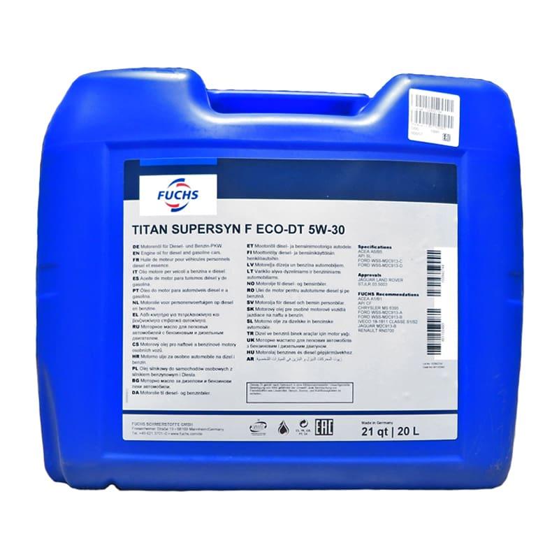 FUCHS TITAN Supersyn F Eco-DT SAE 5W-30 - 20 Liter