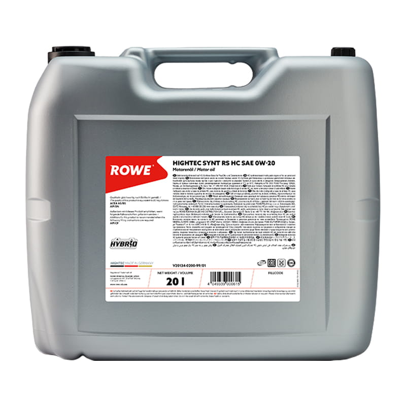 ROWE HIGHTEC SYNT RS HC SAE 0W-20 - 20 Liter