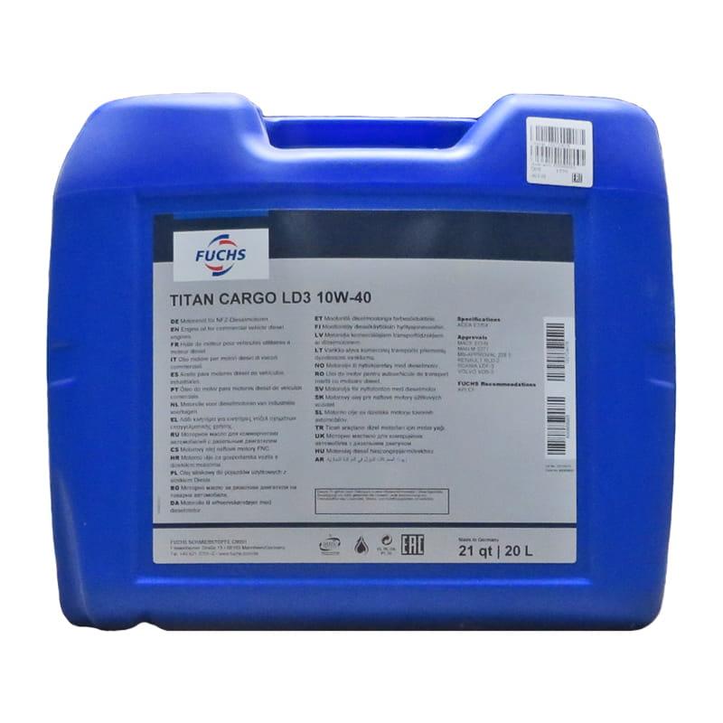FUCHS TITAN CARGO LD3 SAE 10W-40 - 20 Liter