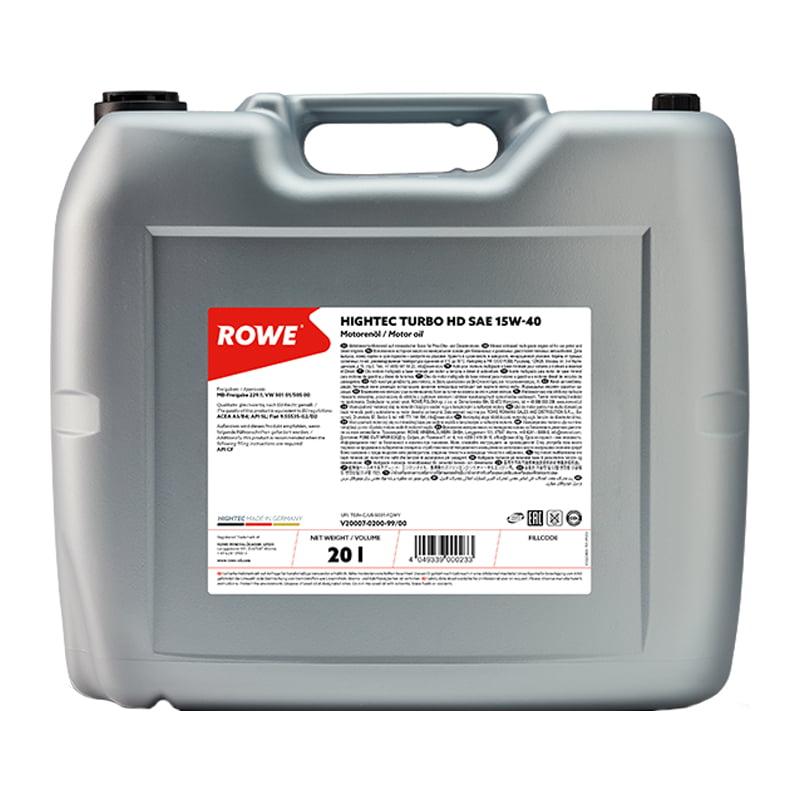 ROWE HIGHTEC TURBO SAE 15W-40 - 20 Liter