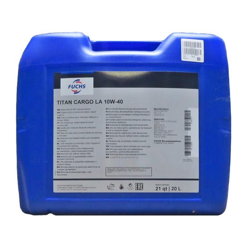 FUCHS TITAN CARGO LA SAE 10W-40 - 20 Liter