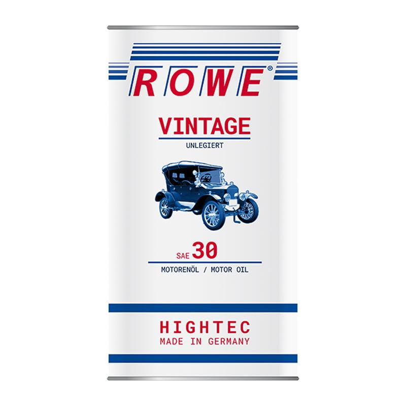 ROWE HIGHTEC VINTAGE SAE 30 unlegiert - 5 Liter